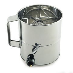 Norpro 8 Cup Stainless Steel Hand Crank Sifter