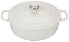 Le Creuset Signature Wide Round 6.75 Quart Cast Iron Oven White