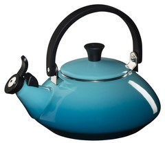 Le Creuset Enamel Steel Tea Kettle - Zen - Caribbean