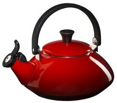 Le Creuset Enamel Steel Tea Kettle - Zen - Cherry