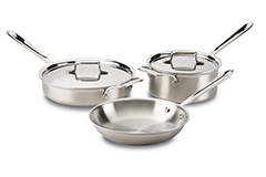 All-Clad d5 Brushed Stainless 5-Piece Cookware Set