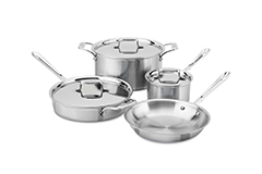 All-Clad d5 Brushed Stainless 7 Piece Cookware Set
