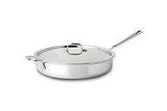 All-Clad Stainless 6 Quart Saute Pan with Lid