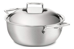 All-Clad d5 Brushed Stainless 5.5 Quart Dutch Oven with Domed Lid