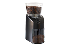 Capresso Infinity Conical Burr Grinder - ABS Housing (Black ABS)