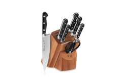 Cangshan V2 Series 1022537 German Steel Forged 8-Piece Knife Block Set, Acacia