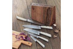 Cangshan S1 Series 6-Piece Knife Set with Walnut Wood Block