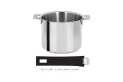 Cristel Mutine Stainless Steel 1.5 Quart Milkpot with Glass Lid