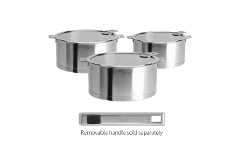 CRISTEL Strate Set of 3 Saucepans and Lids