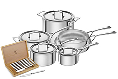 Zwilling J.A. Henckels Aurora Stainless Steel 10 Piece Cookware Set
