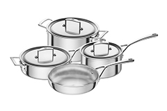 Zwilling J.A. Henckels Aurora Stainless Steel 7 Piece Cookware Set