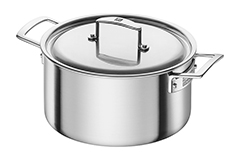 Zwilling J.A. Henckels Aurora Stainless Steel 5.5 Quart Dutch Oven with Lid