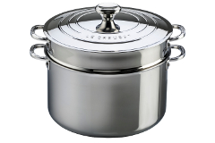 Le Creuset Premium Stainless Steel 9 Quart Stock Pot with Lid and Insert