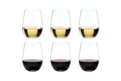 Riedel O Riesling/Zinfandel Stemless Wine Glasses, Set of 6