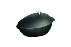 Staub Cast Iron 2 Quart Mussel Pot Matte Black