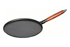 "Staub Cast Iron 11"" Crepe Pan with Spreader & Spatula Matte Black"