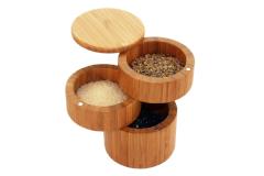 Totally Bamboo 3-Tier Salt Box