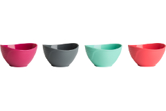 Trudeau Silicone Pinch Bowls Set of 4