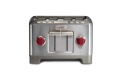 Wolf Gourmet 4-Slice Toaster Red Knob